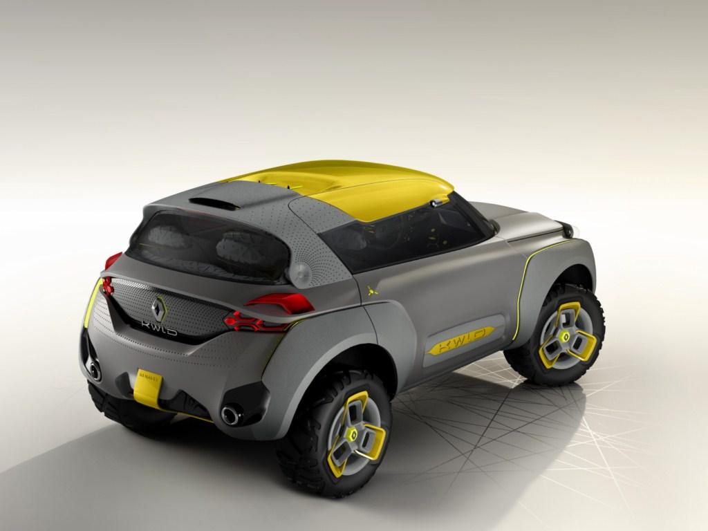 Renault KWID Concept rear three quarter press shot