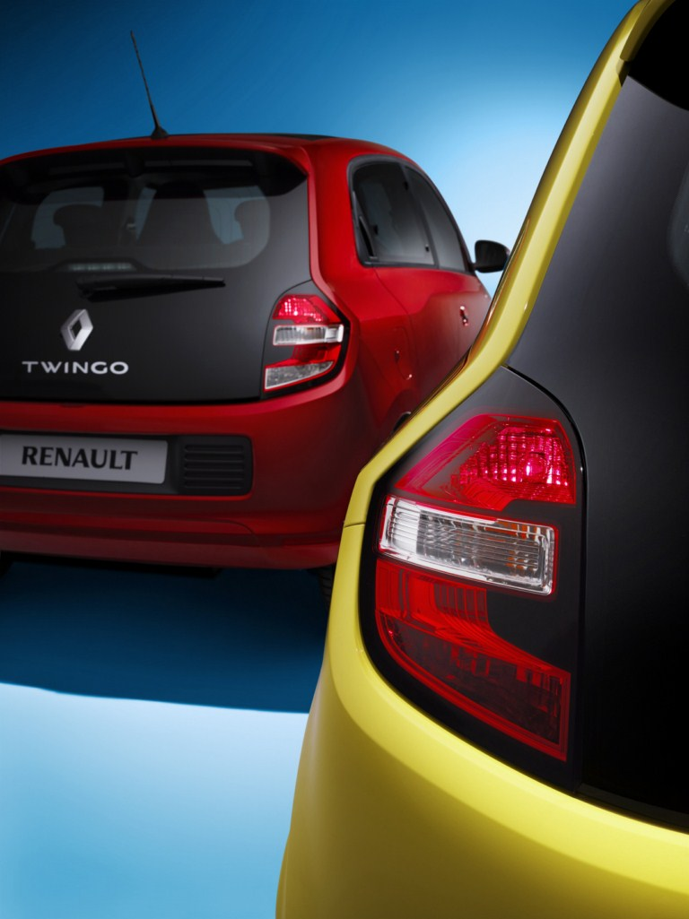 Renault Twingo variants taillight press shot