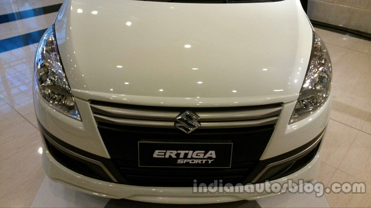 Suzuki Ertiga Sporty launched Indonesia hood