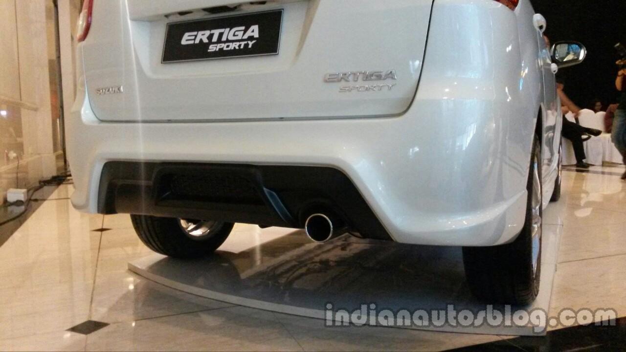 Suzuki Ertiga Sporty launched Indonesia rear bumper