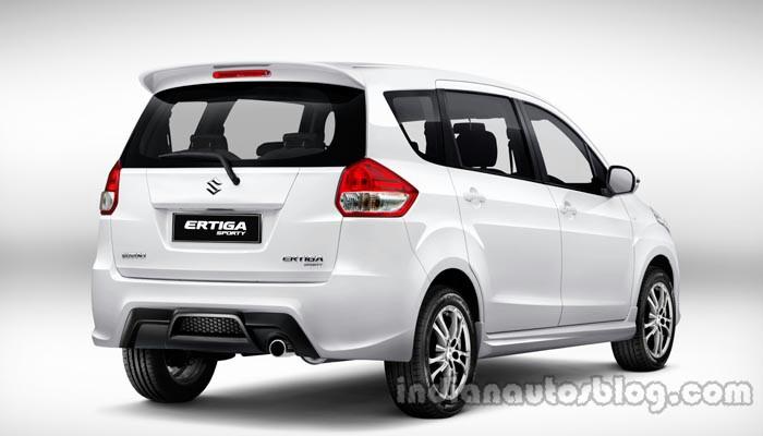 Suzuki Ertiga Sporty launched Indonesia rear quarter press