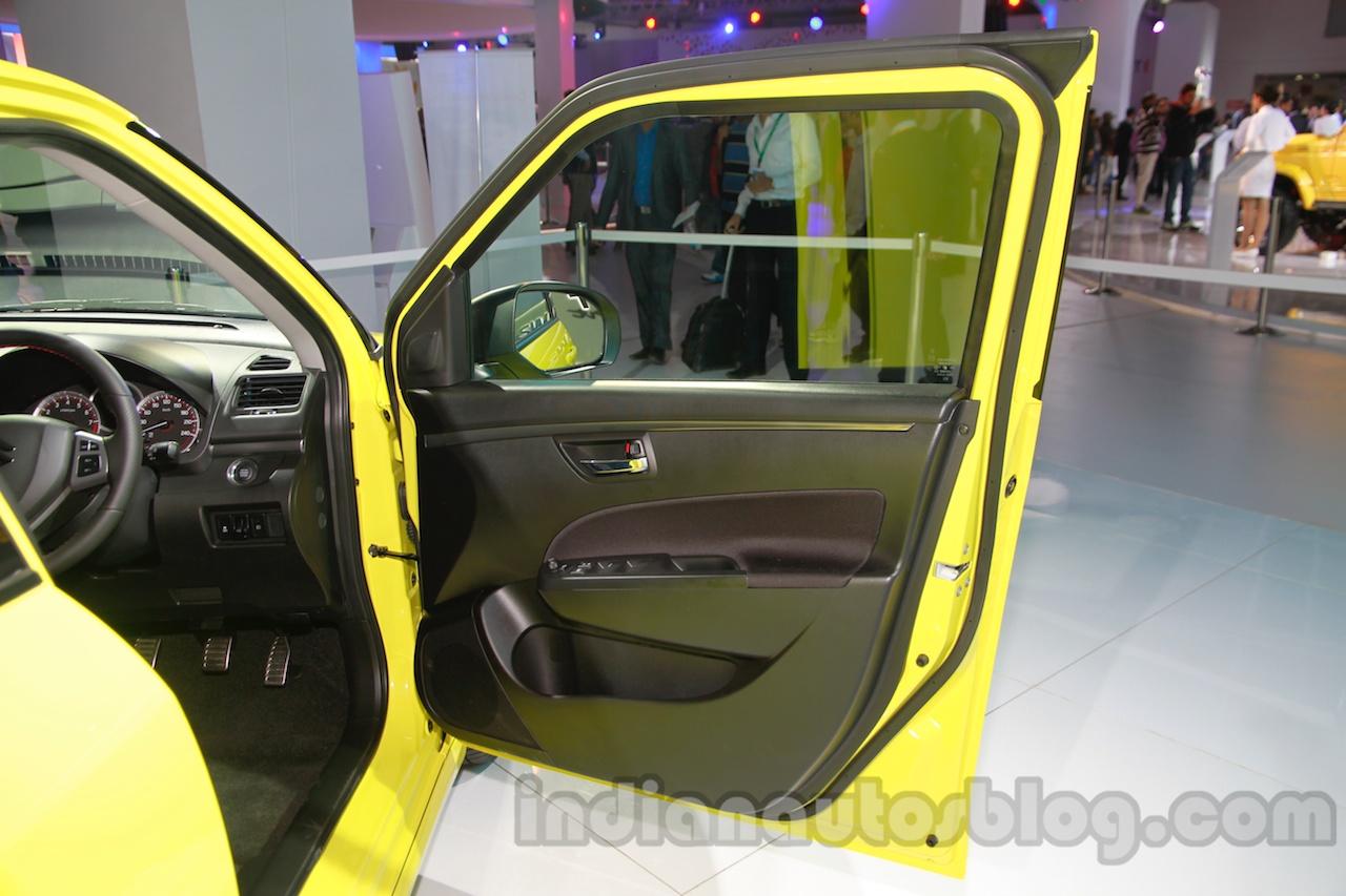 Suzuki Swift Sport door trim at Auto Expo 2014