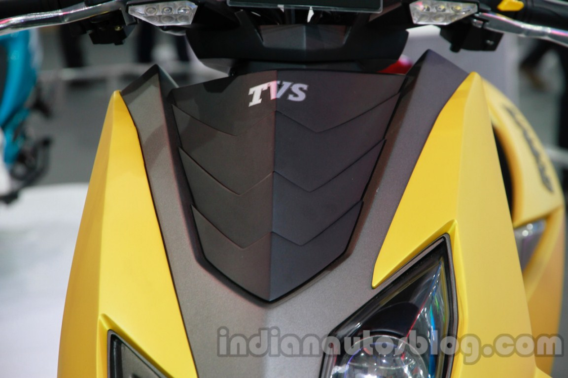 TVS Graphite concept body panel detail live