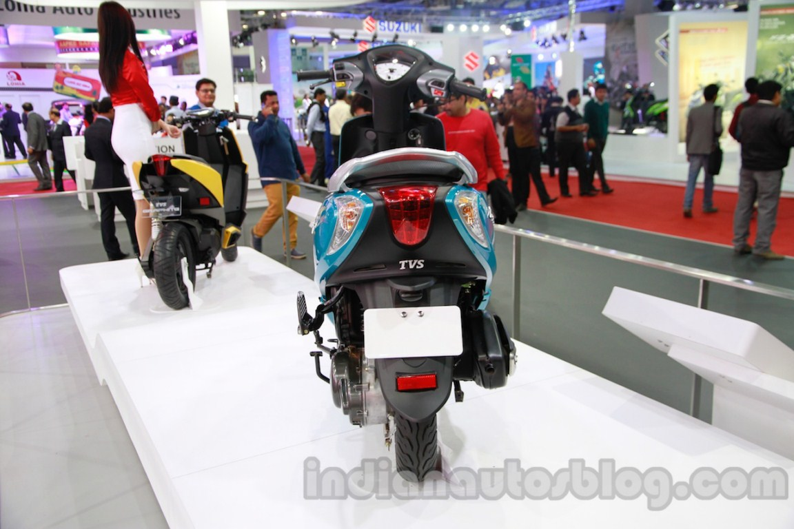 TVS Scooty Zest rear live
