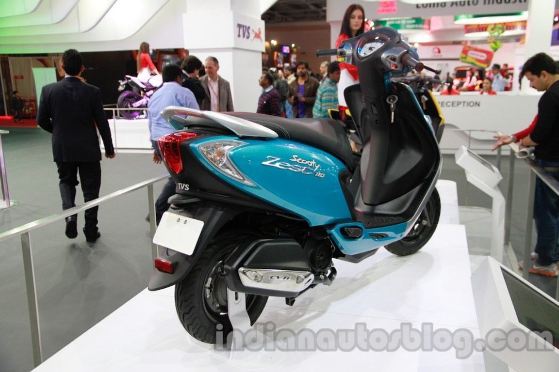 TVS Scooty Zest rear three quarter right live