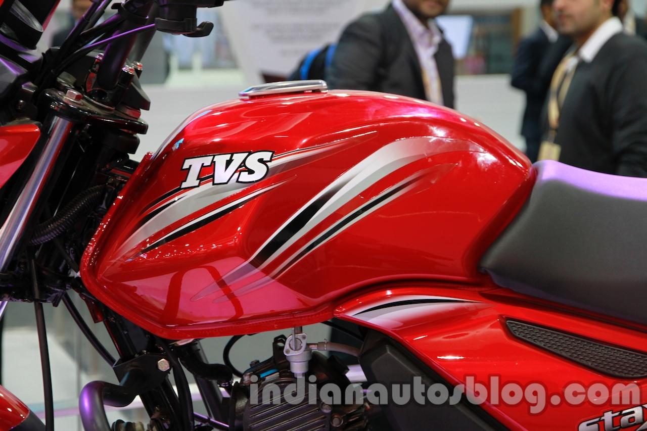 TVS Star City+ tank at Auto Expo 2014