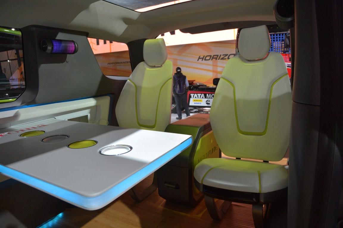 Tata ADD Venture Concept forward facing rear seats from Auto Expo 2014