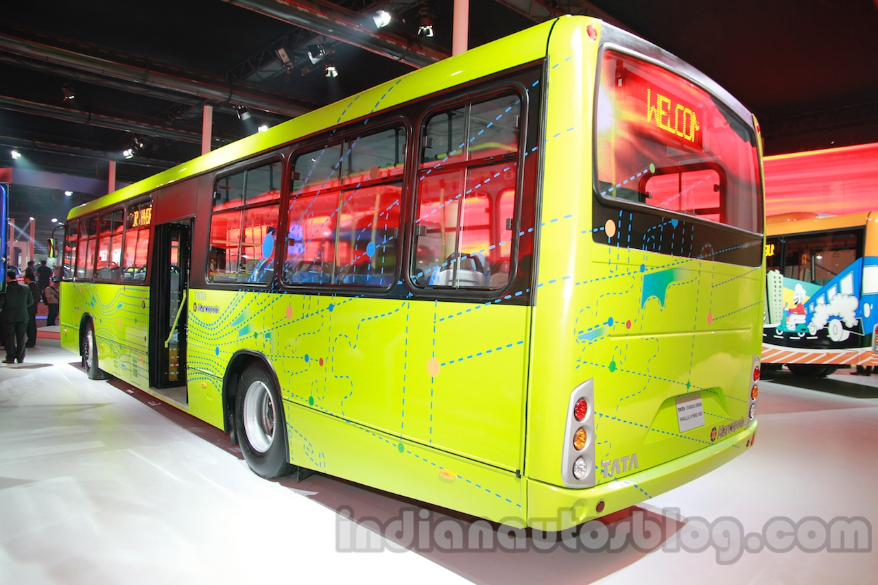 Tata Starbus Urban hybrid rear three quarters left