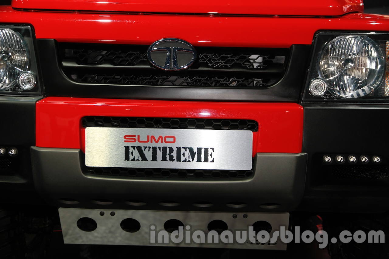 Tata Sumo Extreme front registration plate