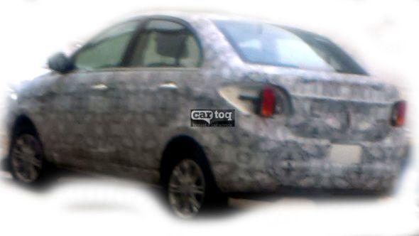Tata Zest or Tata Falcon 5 spyshot rear