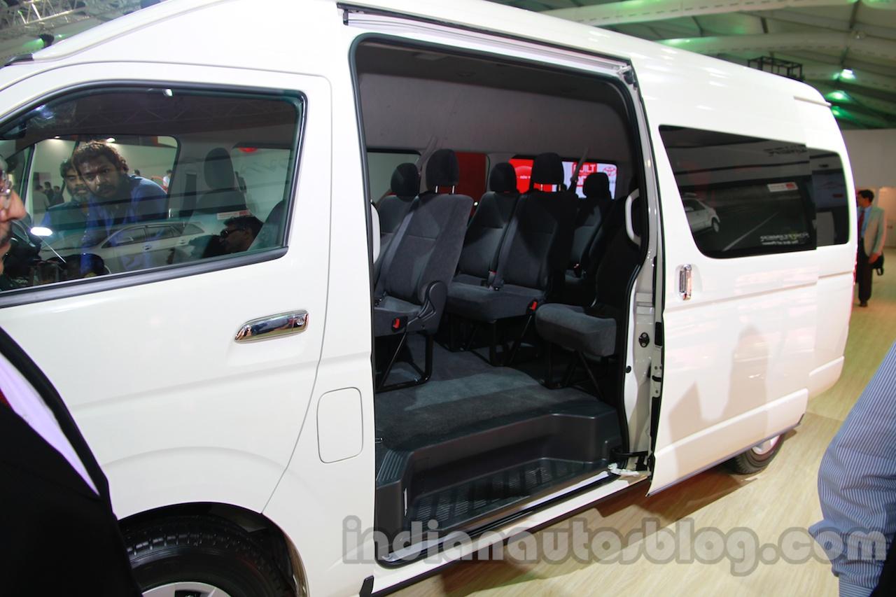 Toyota Hiace Auto Expo 2014 Sliding Door