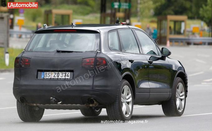 VW Touareg rear spyshot