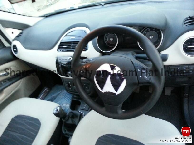 2014 Fiat Punto facelift snapped interior