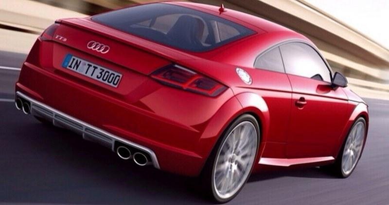 2015 Audi TT-S rear three quarters leaked image