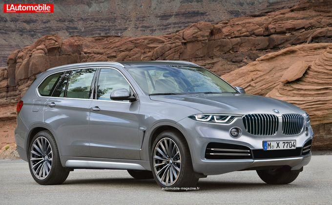 BMW X7 rendering Automobile Magazine
