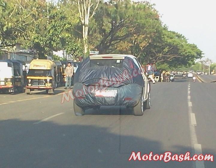 Fiat Avventura spied in Pune rear