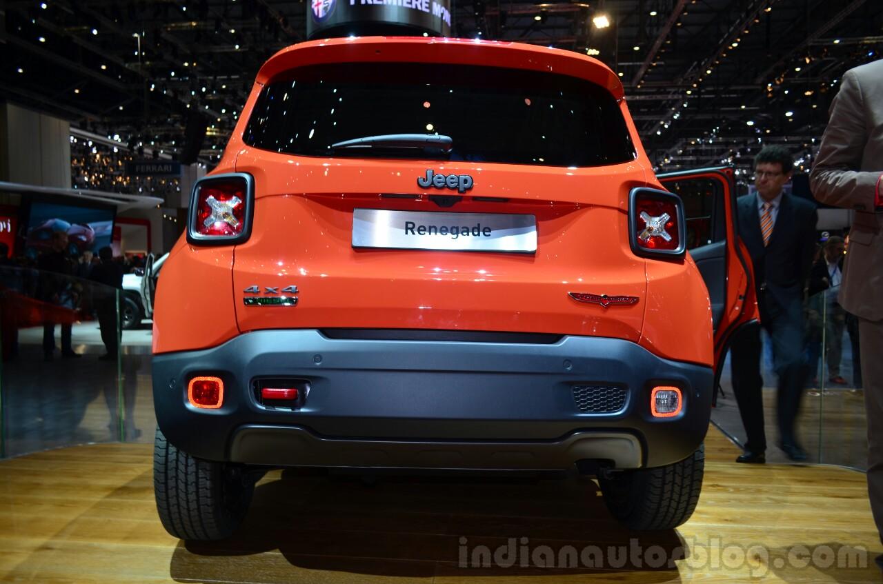 Jeep Renegade rear at Geneva Motor Show