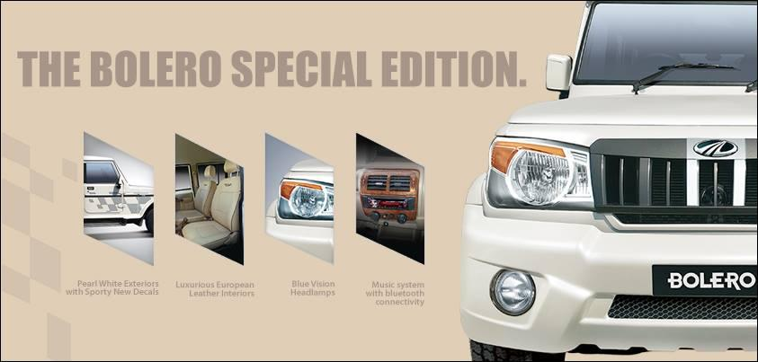 Mahindra Bolero Special Edition press shot