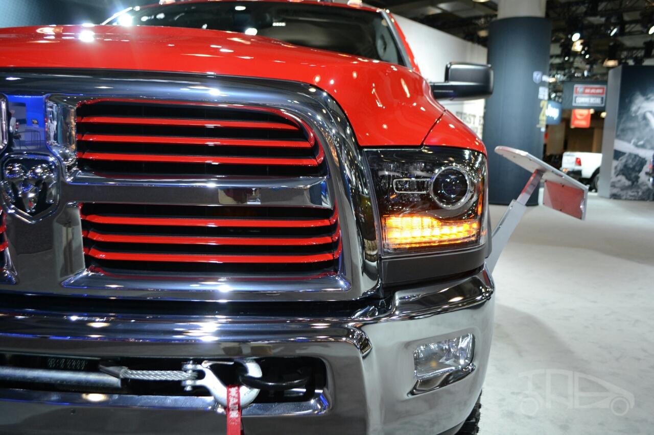 2014 Ram Power Wagon at 2014 NY Auto Show headlight