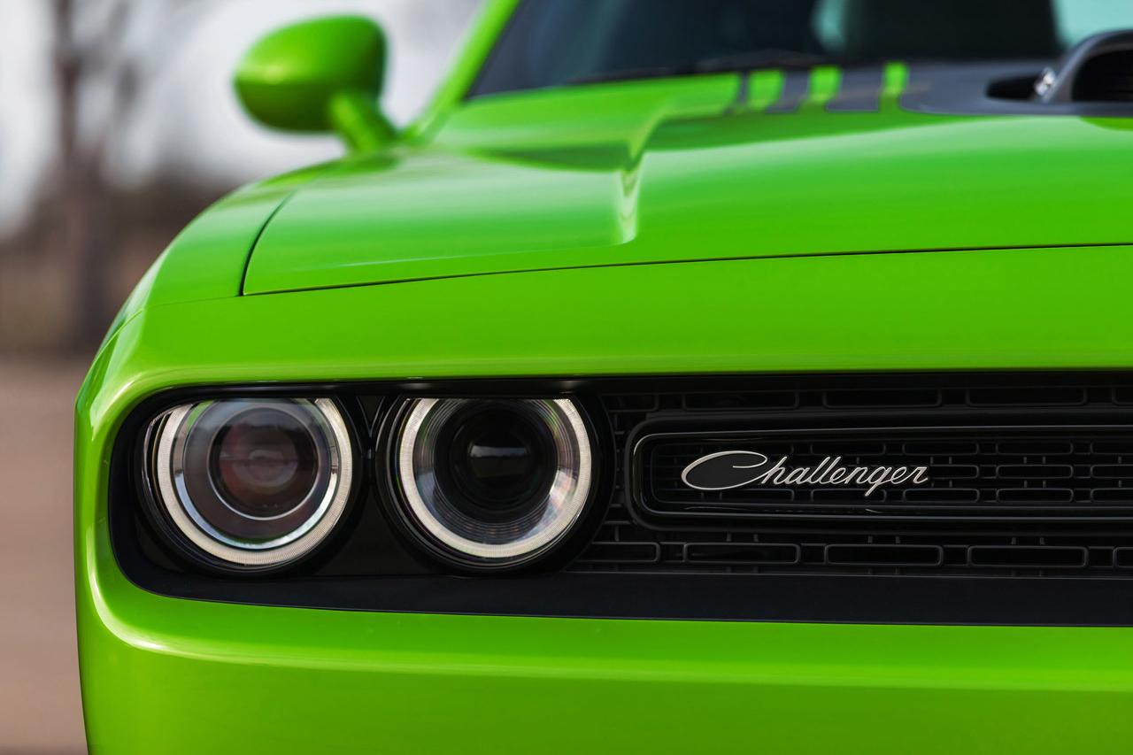 2015 Dodge Challenger headlamp detail press shot