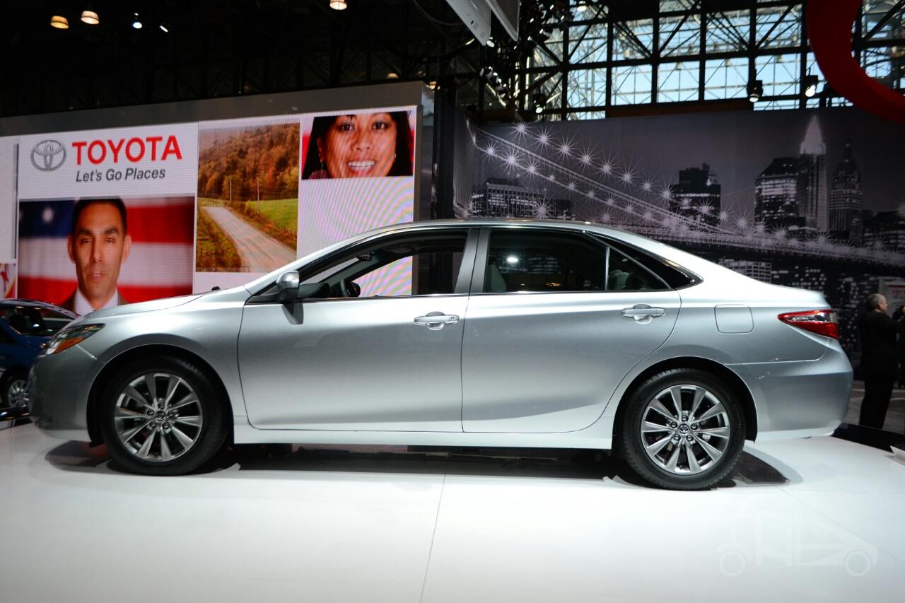 2015 Toyota Camry at 2014 NY Auto Show side