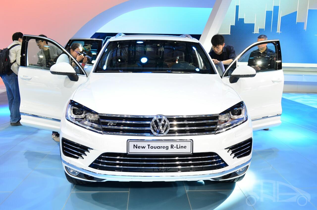 2015 VW Touareg front at Auto China