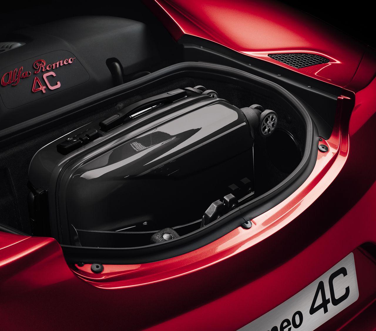 Alfa Romeo 4C luggage space press shot