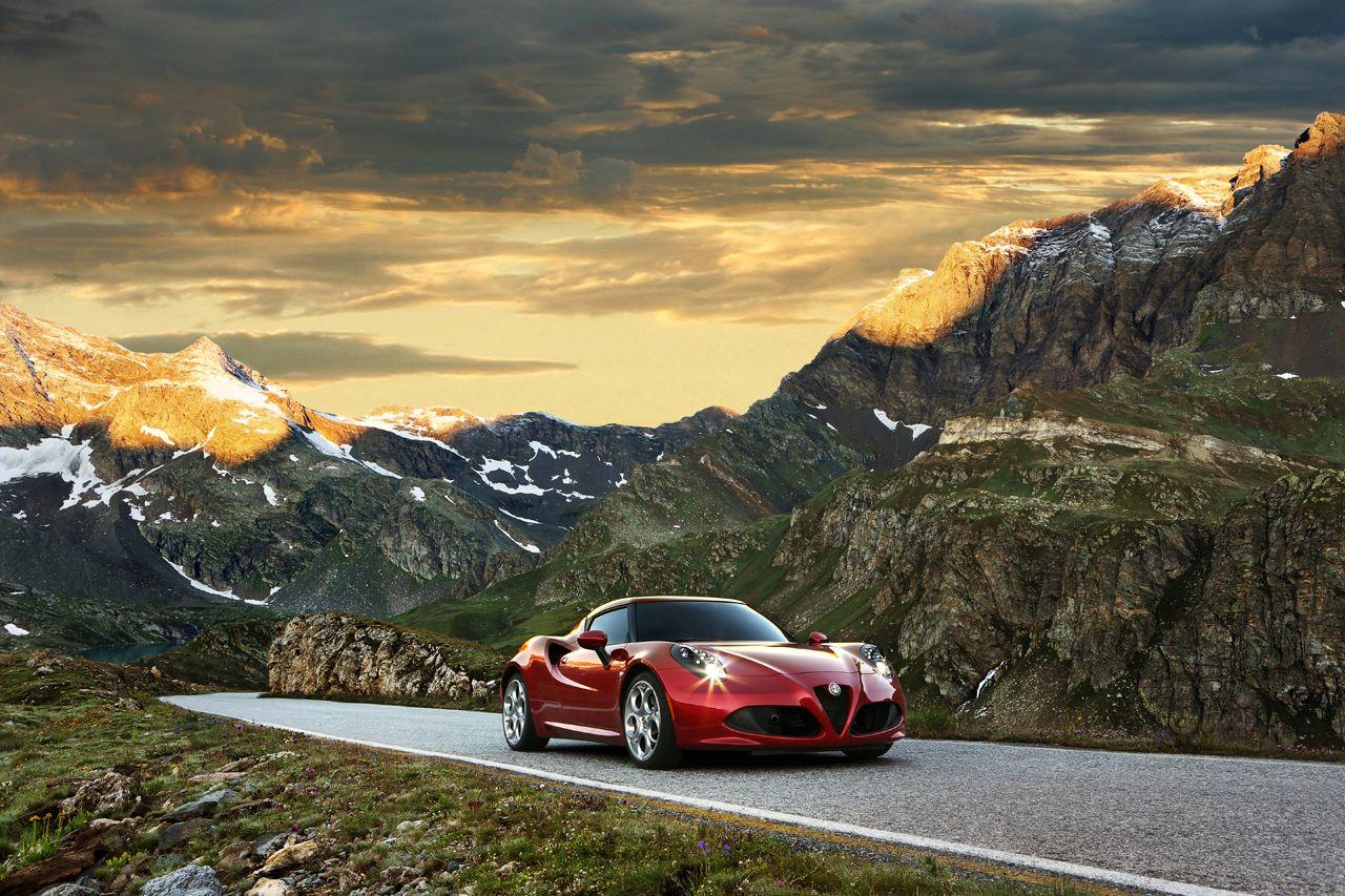 Alfa Romeo 4c front press shot