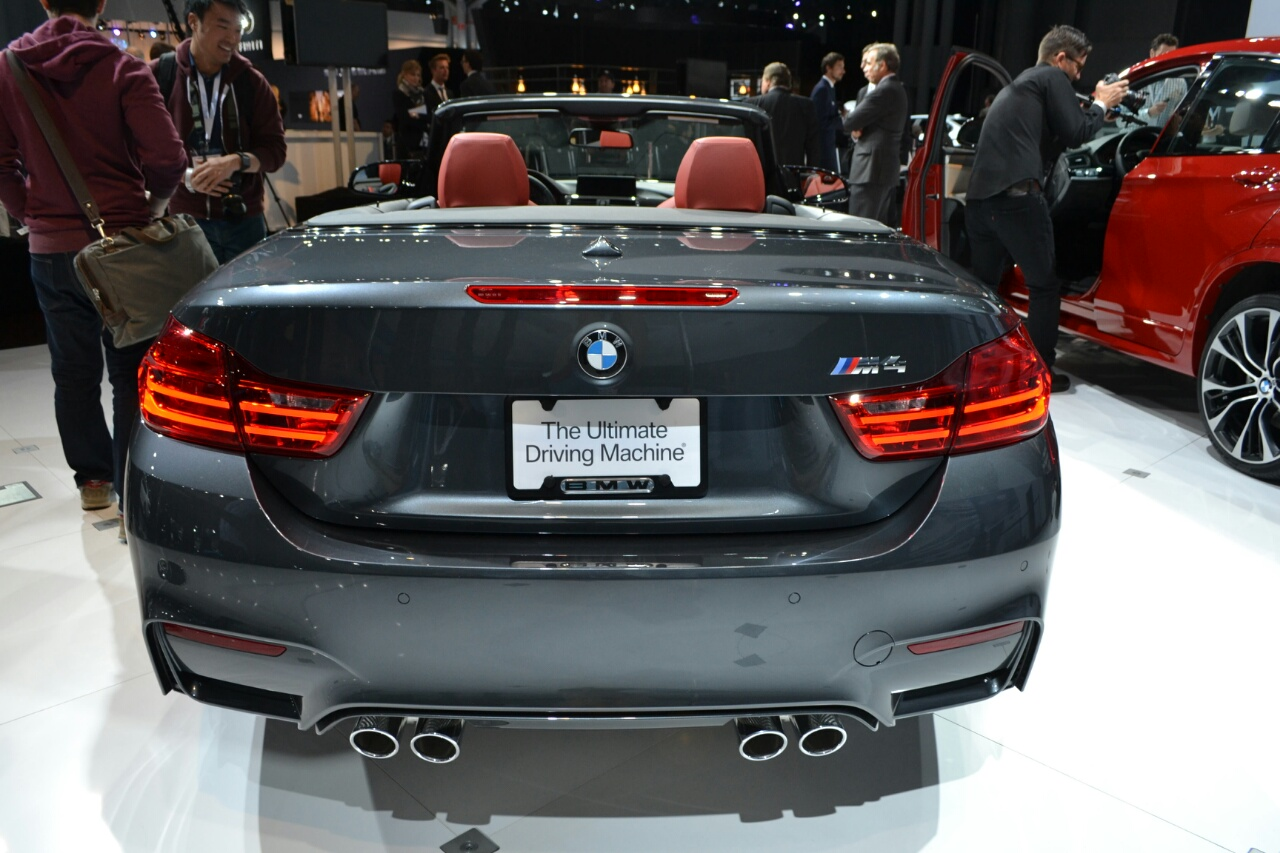BMW M4 Convertible at 2014 New York Auto Show - rear