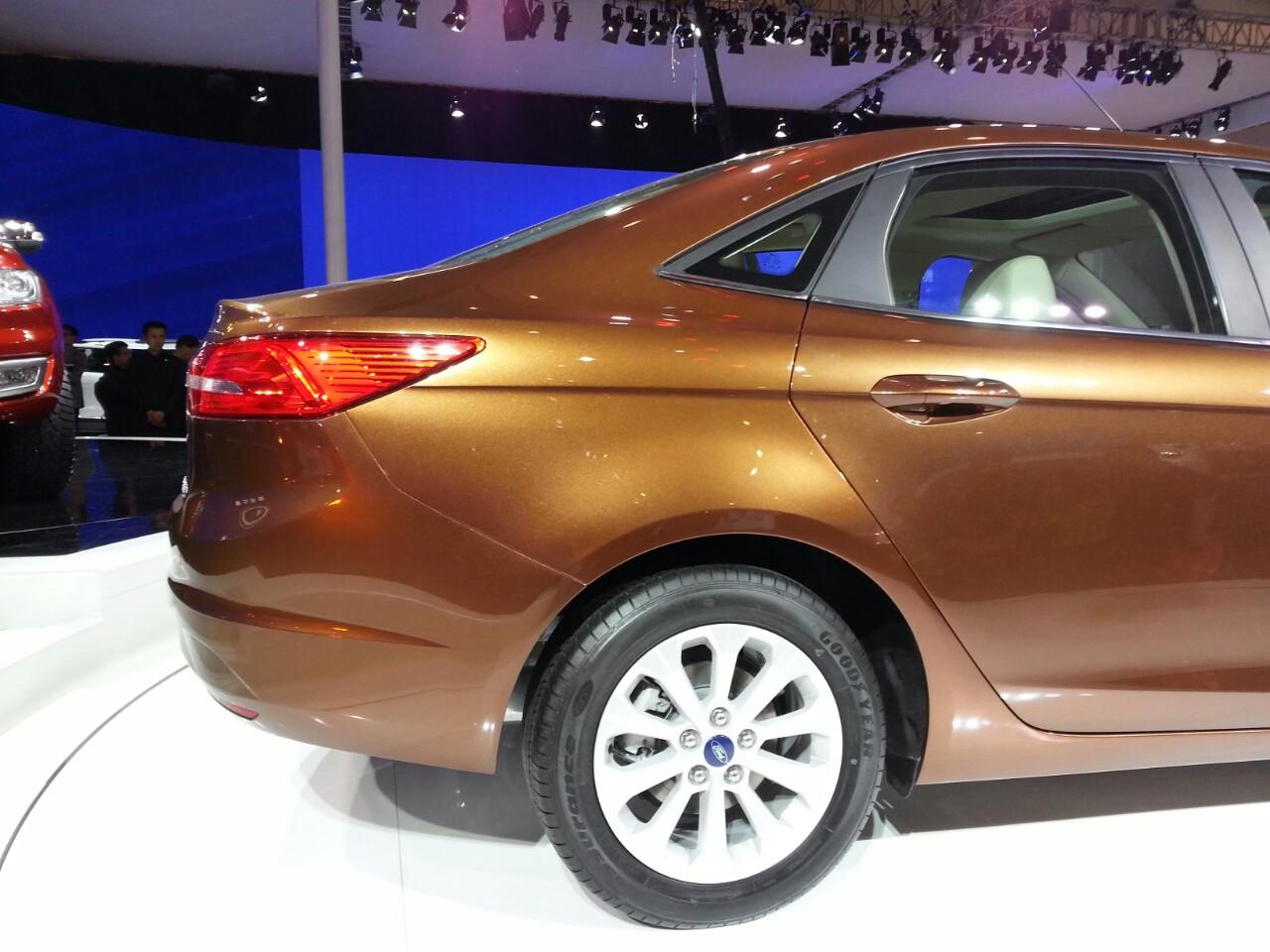 Ford Escort boot at Auto China 2014