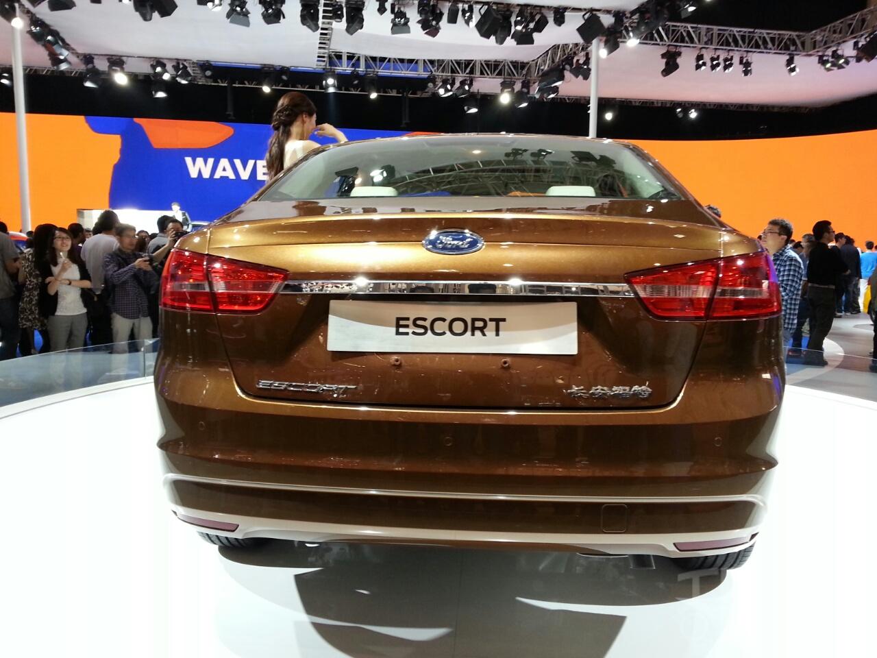 Ford Escort rear at Auto China 2014