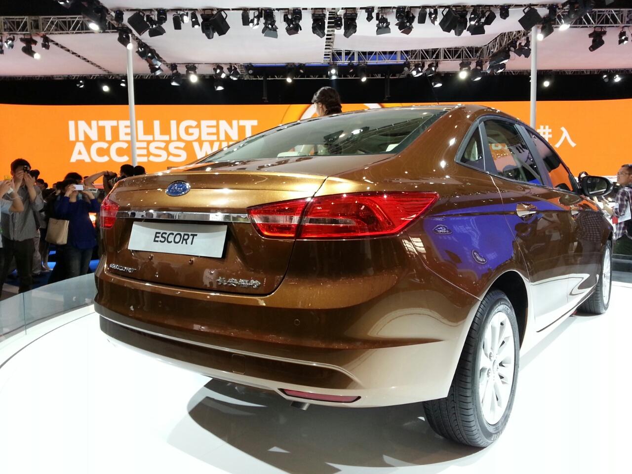 Ford Escort taillamp at Auto China 2014