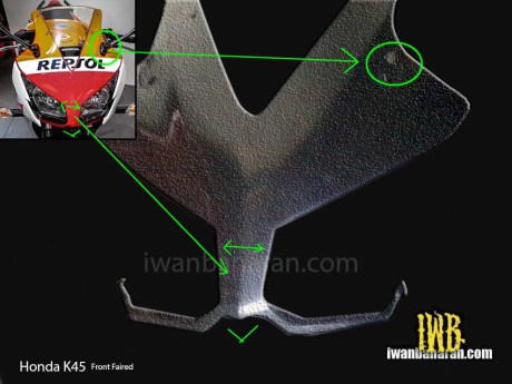 Honda CBR150R front fairing headlamp