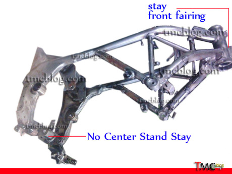 Honda CBR150R tube frame detail