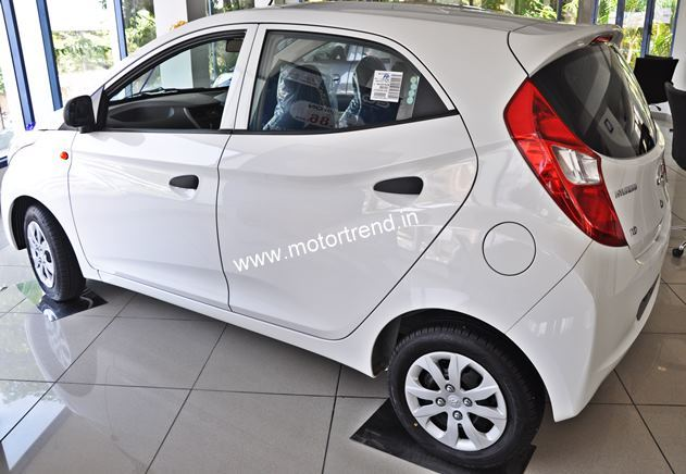 Hyundai Eon 1.0-liter spied rear three quarter