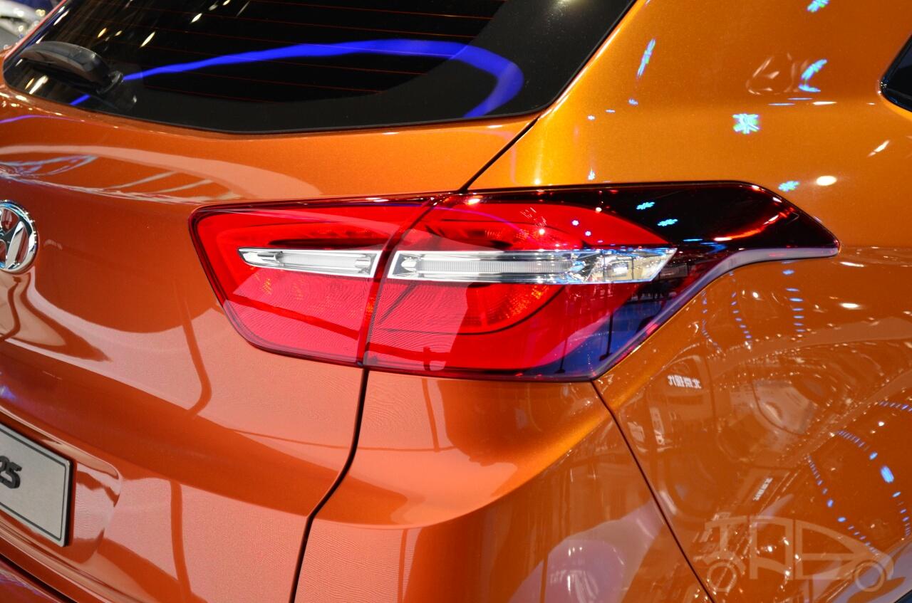 Hyundai ix25 taillamp at Auto China 2014