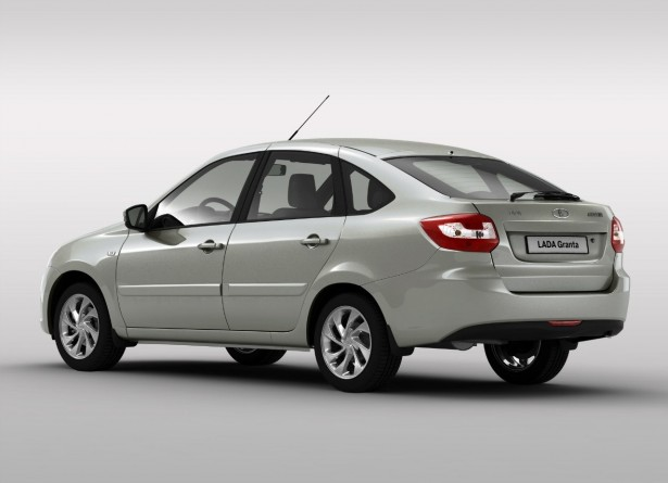 Lada Granta Liftback rear three quarter press shot