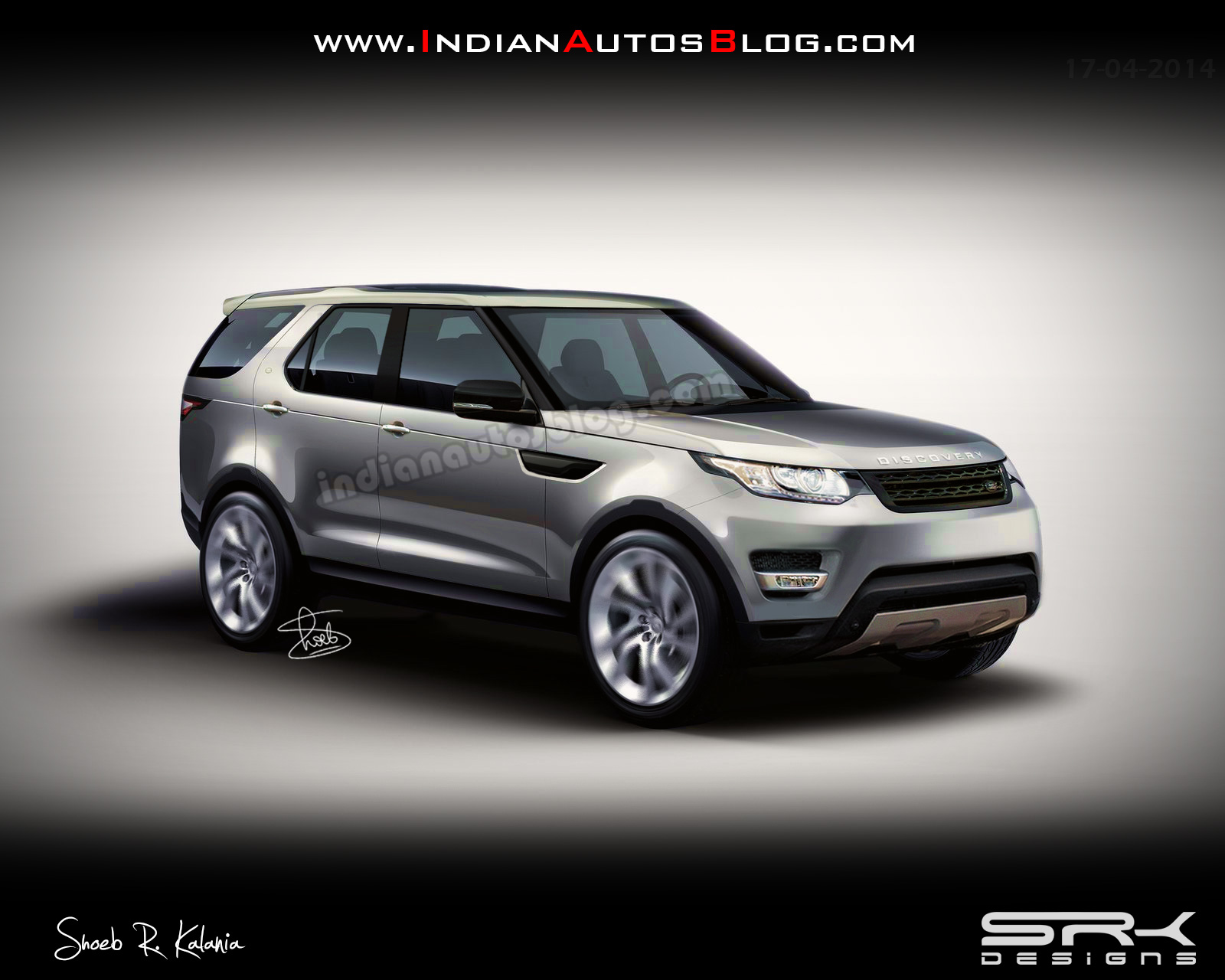 Land Rover Discovery Sport rendering production vehicle
