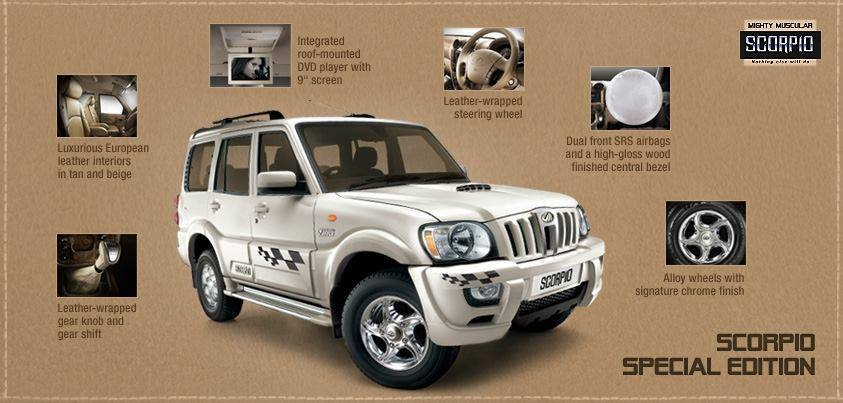 Mahindra Scorpio Special Edition press image