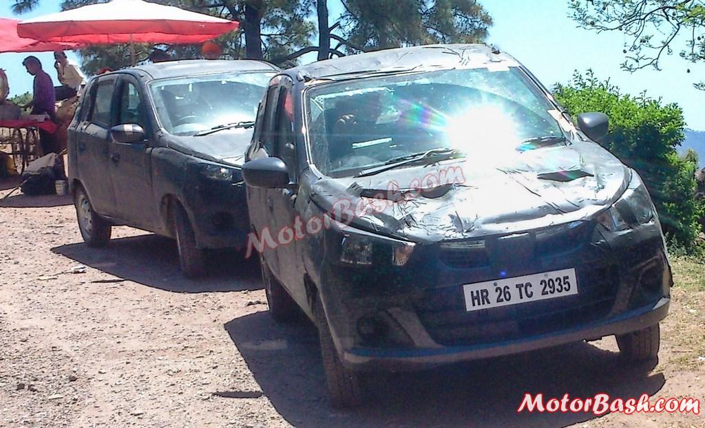 Maruti Alto 800 facelift spied