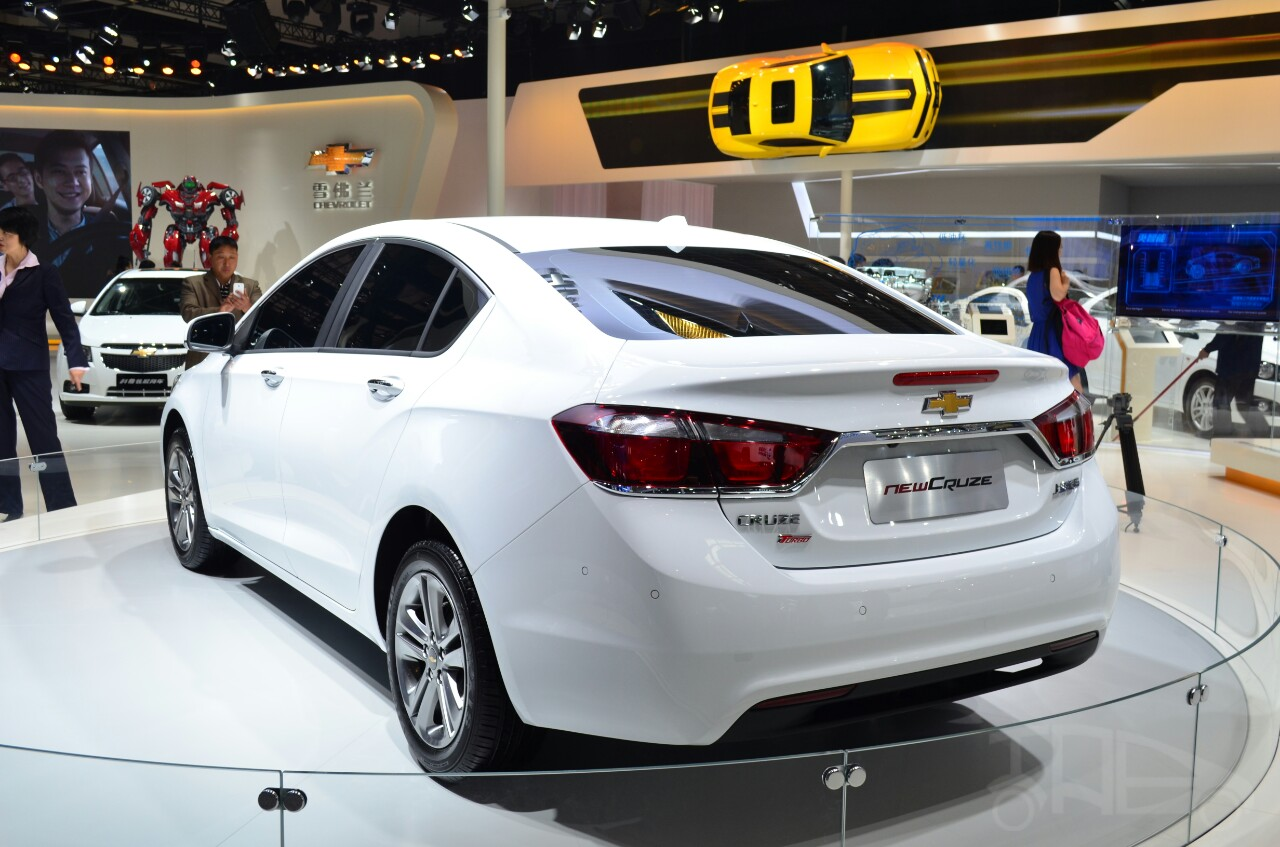 New Chevrolet Cruze rear three quarters view at Auto China 2014