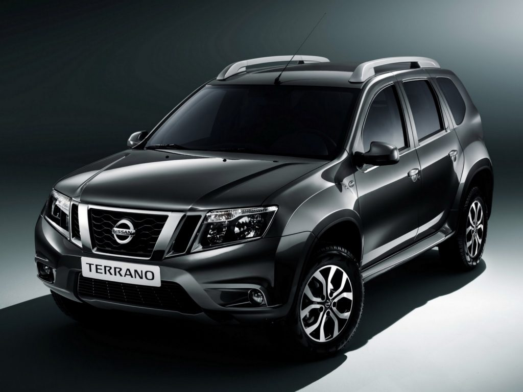 Nissan Terrano (Russia-spec) front three quarter right press shot