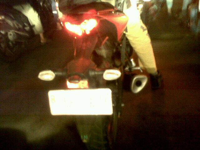 Production Yamaha R25 rear brake light on