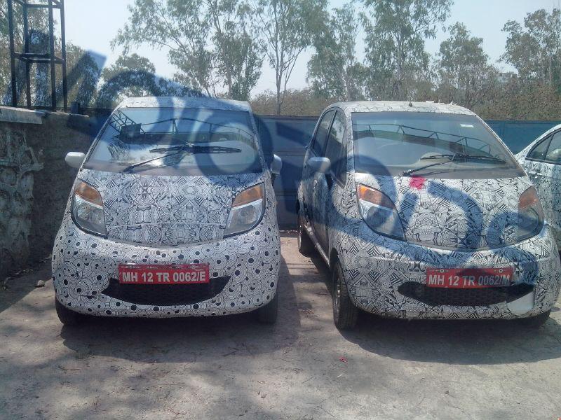 Tata Nano Twist F-Tronic AMT spied front view