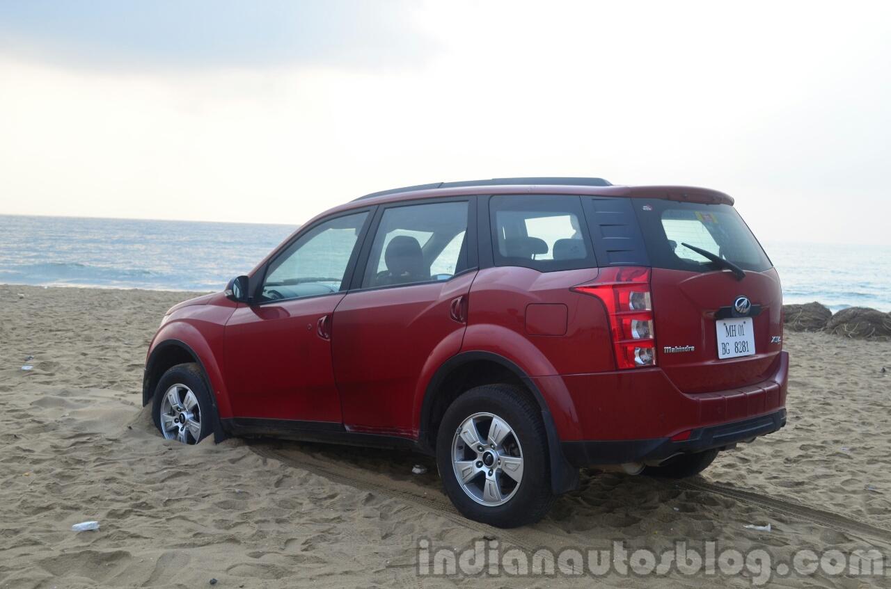 2014 Mahindra XUV500 Review rear three quarters