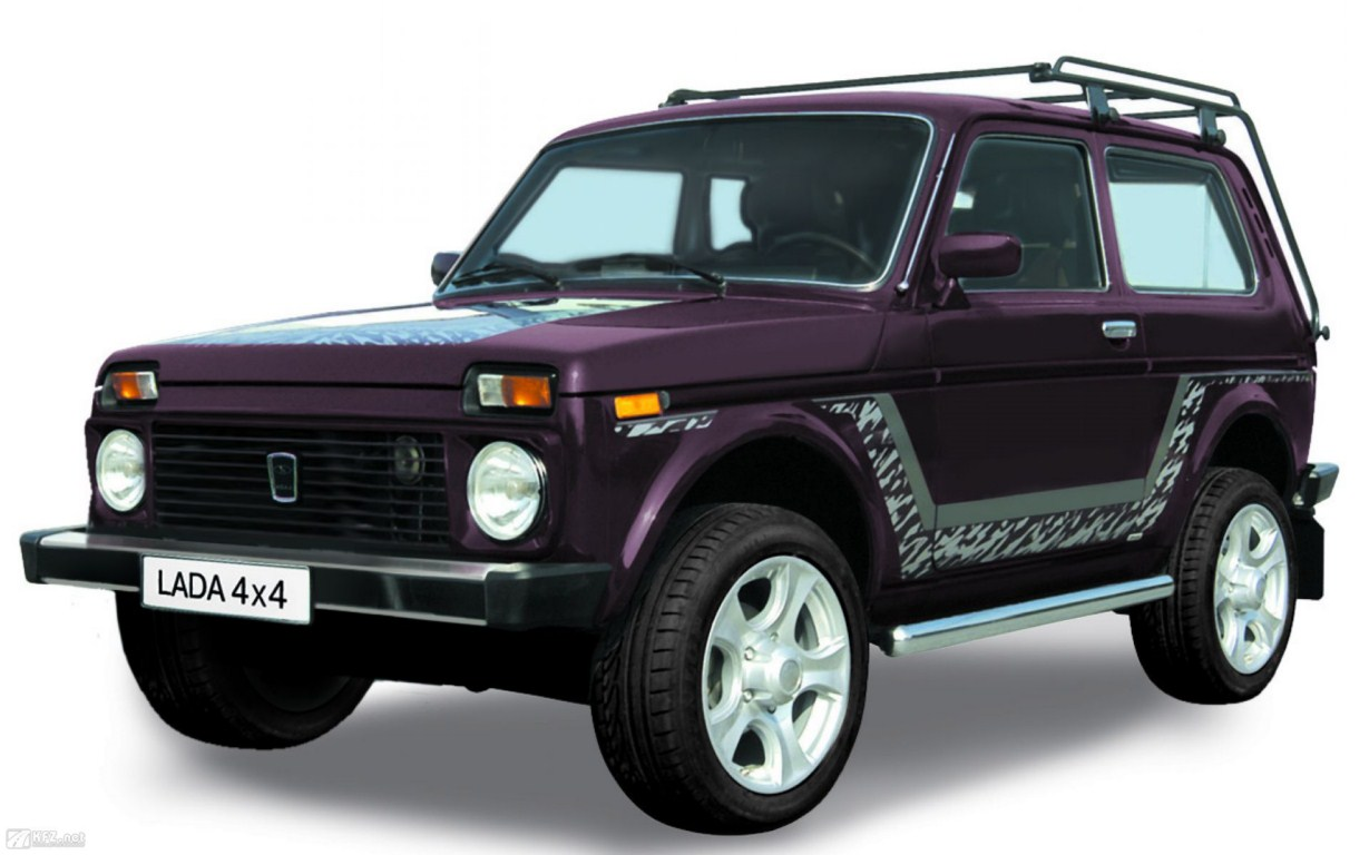 Lada Niva 4x4 front three quarter press shot