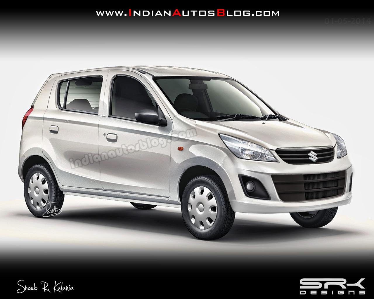 Maruti Alto 800 facelift rendering IAB