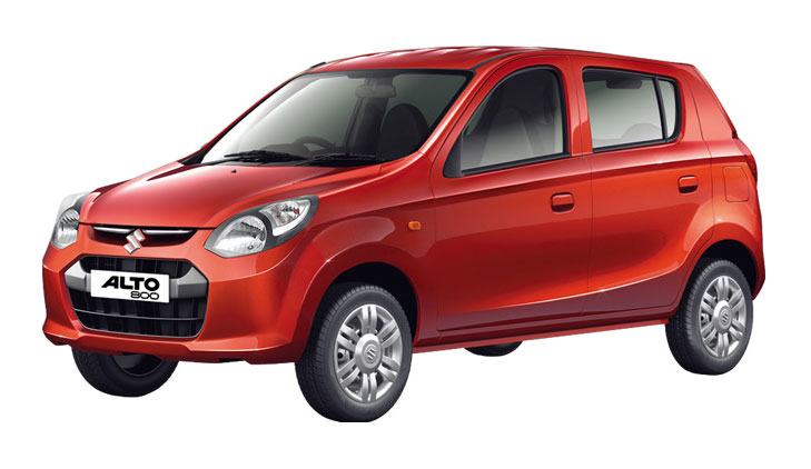 Maruti alto 800 press shot front quarter angle