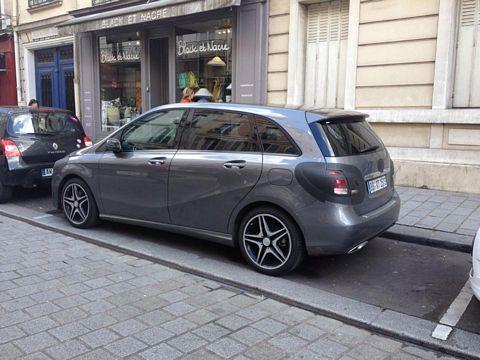 Mercedes-Benz B-Class side spyshot