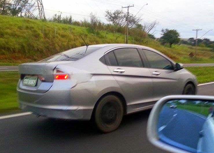 New Honda City testing in Brazil